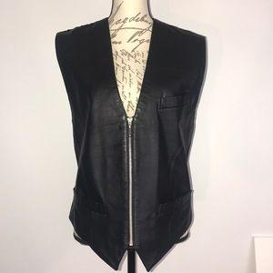 I.O.U. Men's Biker Ginuwine Leather Vest